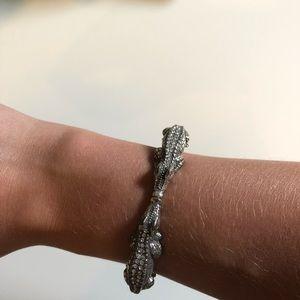 Brighton alligator silver bracelet cuff
